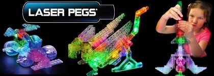 Laser Pegs LED - lighted constructions