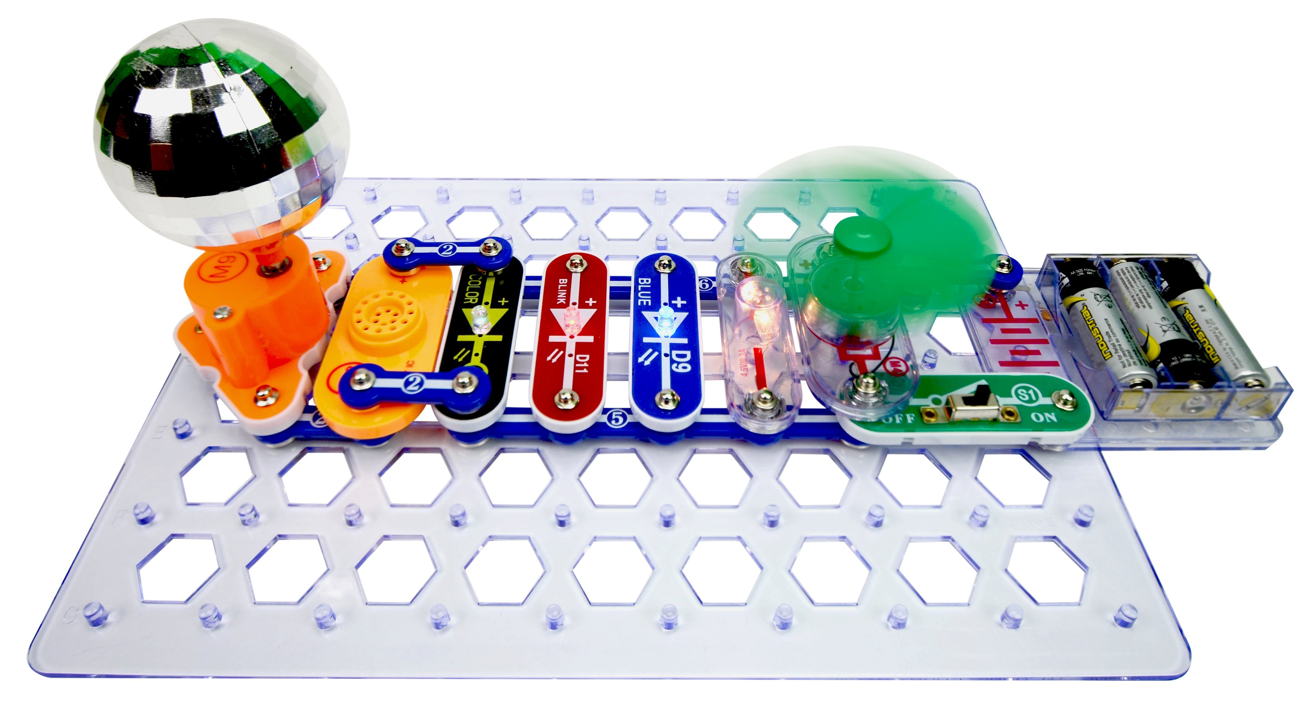 Snap Circuits 3d Meg Funique Science Games Kits And Teaching Lights Electric Circuit Kit By Elenco